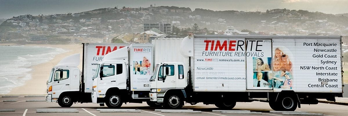 Removalists in Newcastle |TimeRite Removals trucks