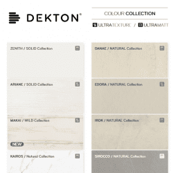 Dekton Colour Collection Chart