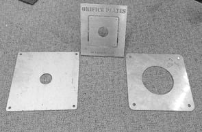 Orifice Plates Supplied by supplied by Saddingtons Building Supplies in Newcastle