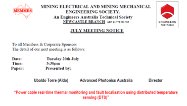 Advanced Photonics Australia presents at Mining Electrical and Mechanical Engineering (MEMMES)