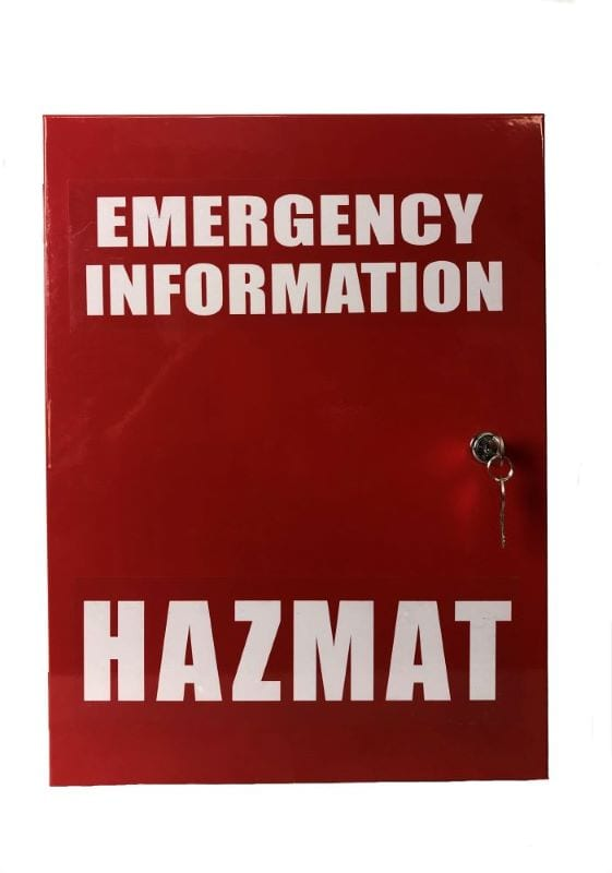 emergency information hazmat cabinet