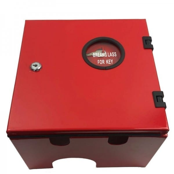 fire hose reel locking nozzle cabinet