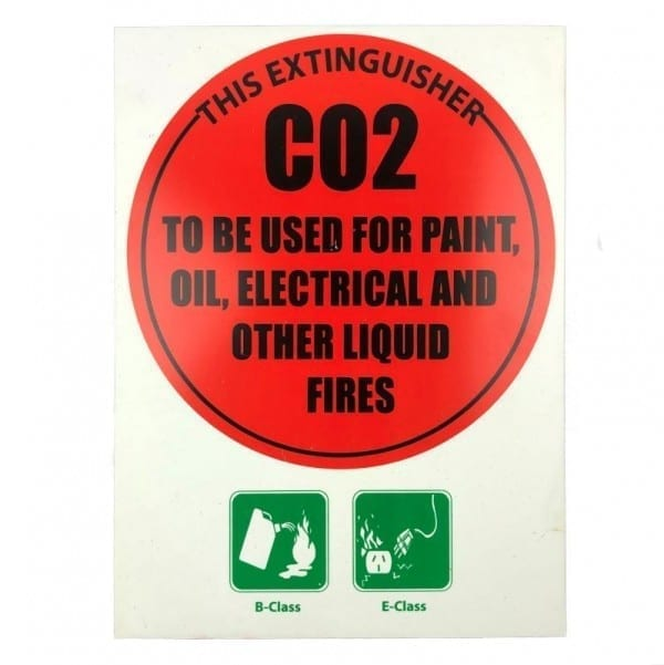 fire extinguisher id disc sign