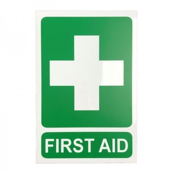 first aid sign pvc
