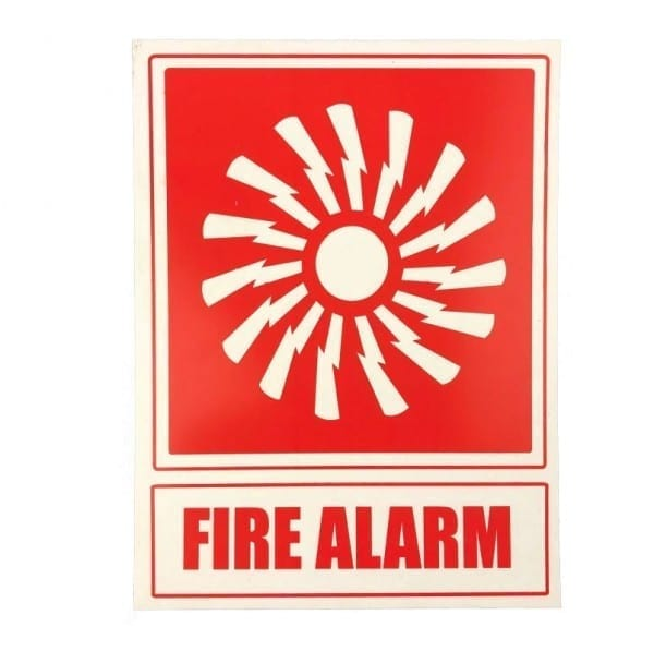 fire alarm location sign