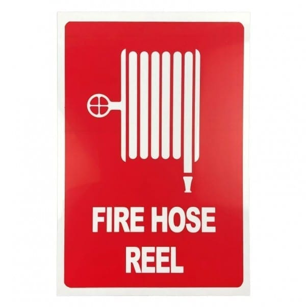 fire hose reel location sign