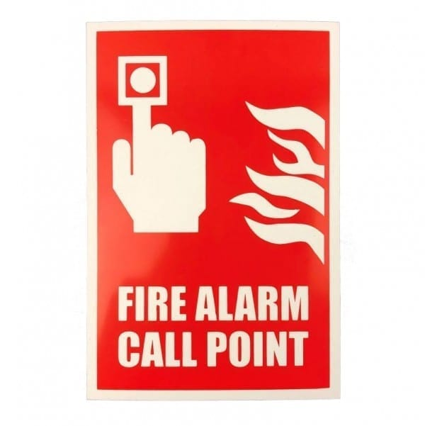 fire alarm call point location sign