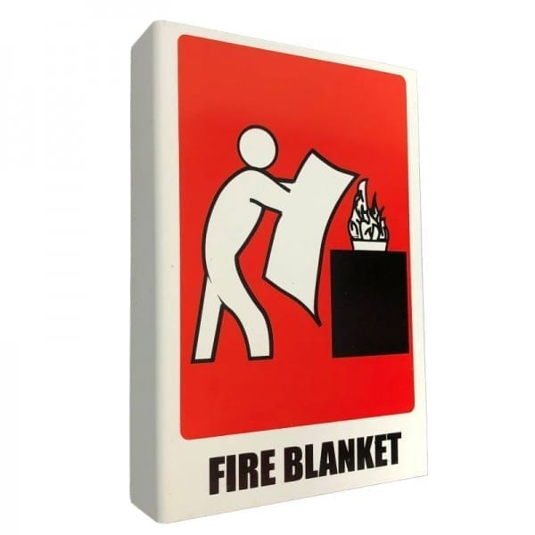 fire blanket location sign right angle