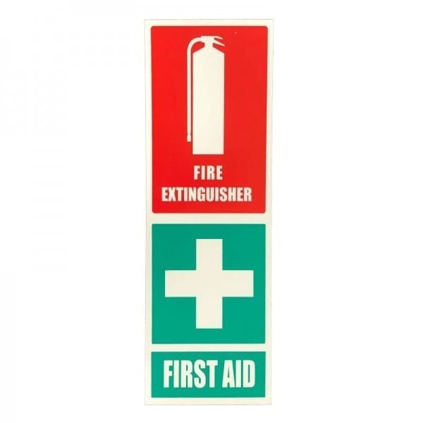 fire extinguisher & first aid kit location sign