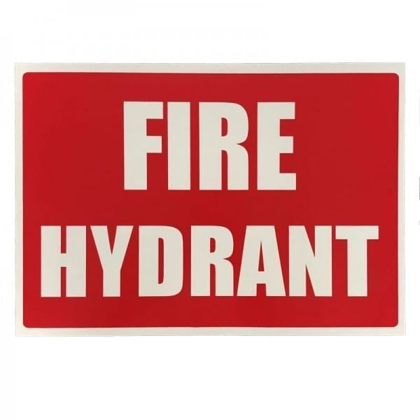 fire hydrant location sign