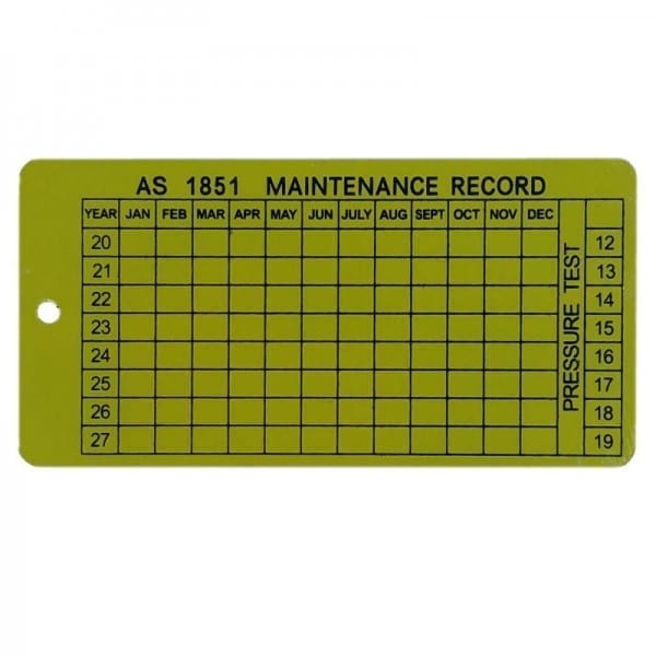 AS1851 service tag alloy