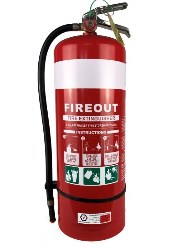 9kg dry chemical powder DCP fire extinguisher