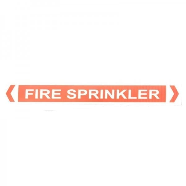 fire sprinkler pipe label