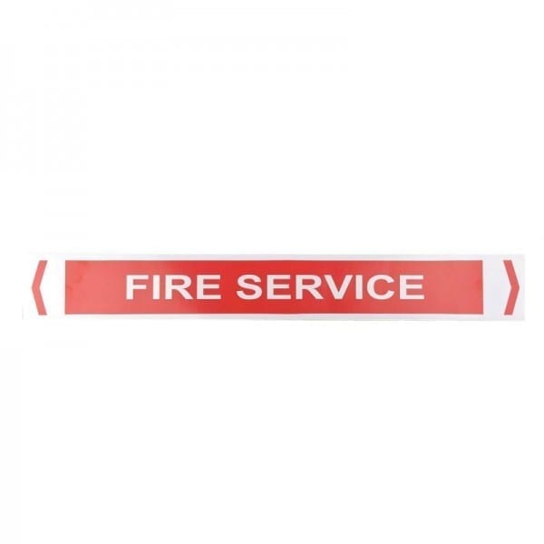 fire service pipe sticker