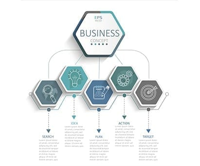 Vector illustration infographic template with 3D hexagons paper label, business template for presentation. Creative concept for infographic, diagram, flowchart, workflow layout, content, steps, chart.