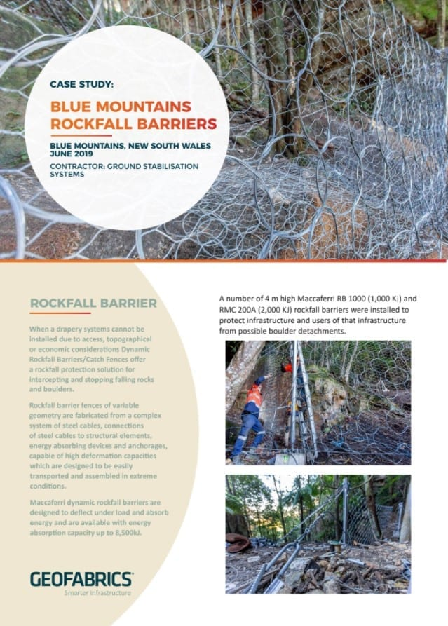 Blue Mountains Rockfall Barriers Case Study