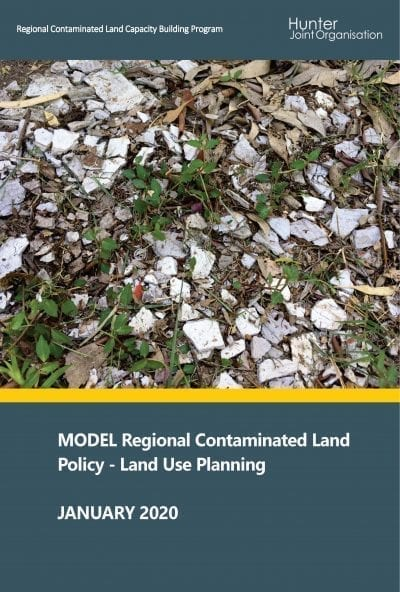 2020 Model Regional Contaminated Land Policy – Land Use Planning