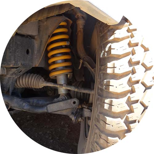 Coil spring fitted to vehicle