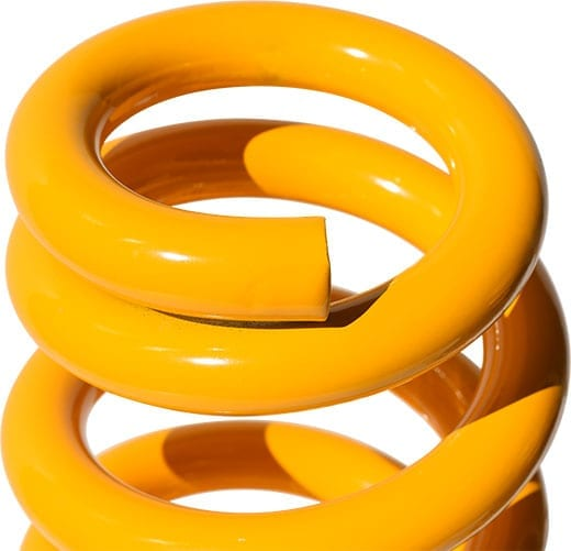 Close up of coil spring