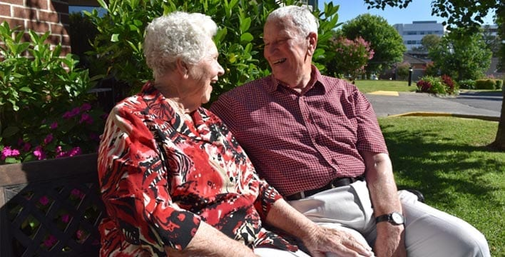 couple enjoying time at Maroba - retirement village in Newcastle NSW