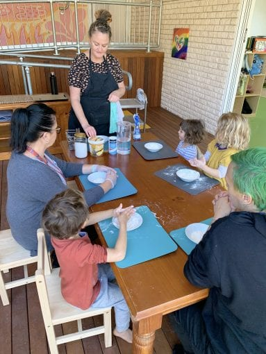 Meal times cooking with preschool chef