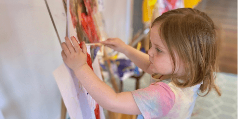 child care sustainable play painting