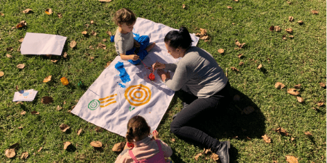 painting picnic sustainable play