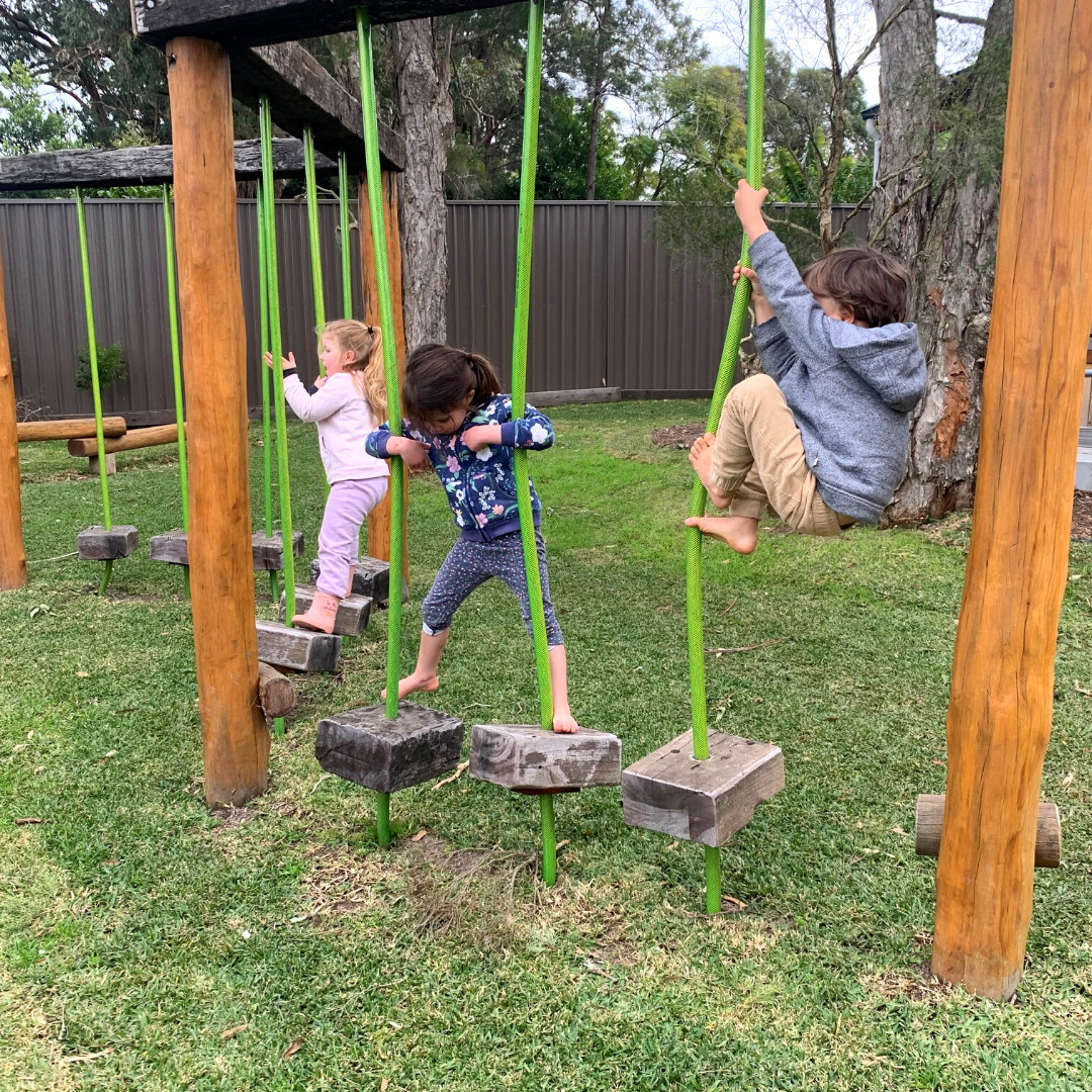 mixed ages playing sustainable play