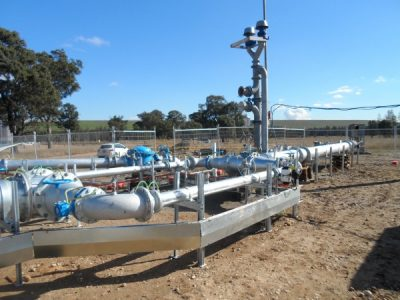 Temporary Gas Plant Installation