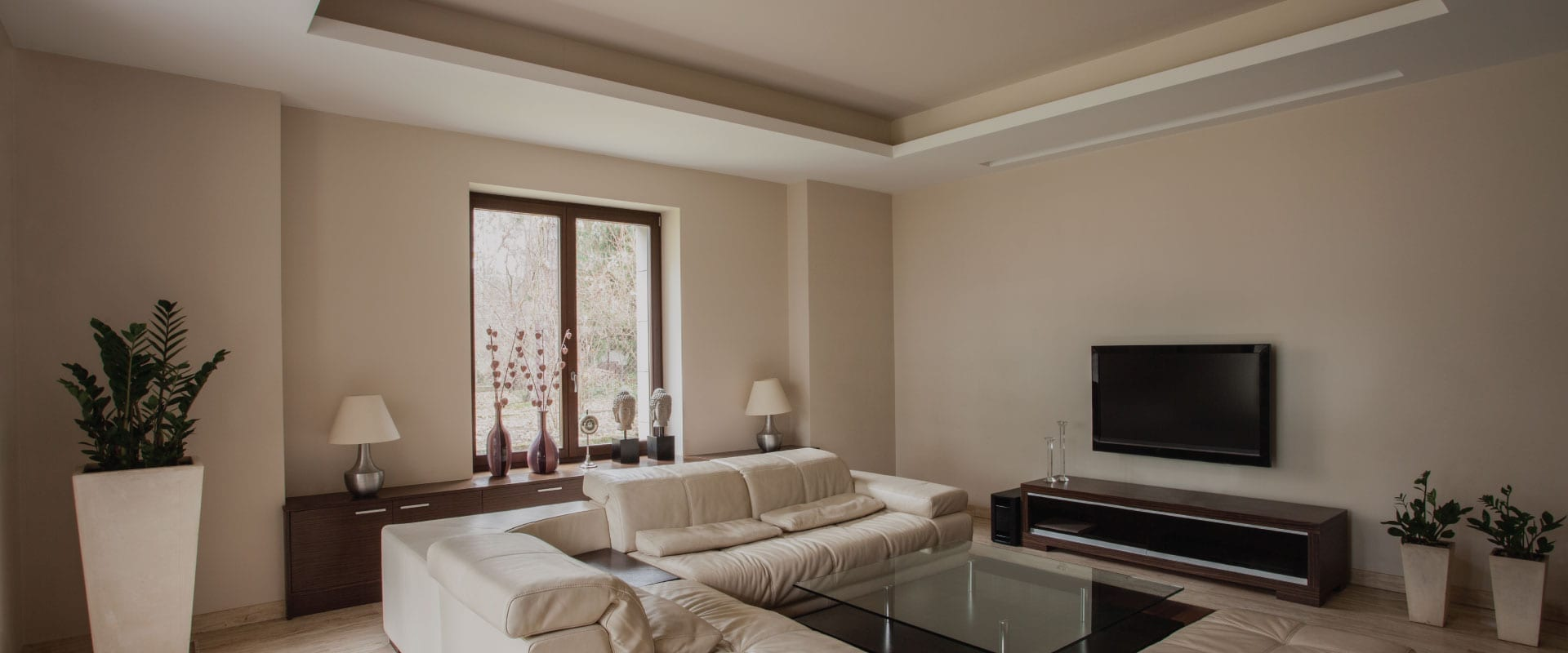 Newly painted home inside living room