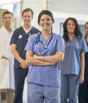 Group of Nurses at the Clinic