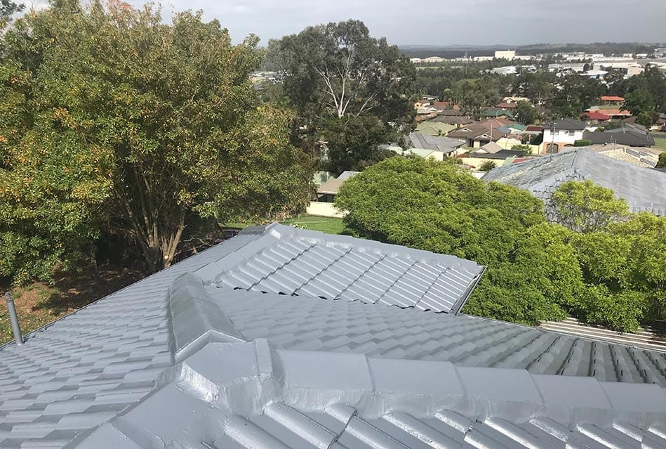 after photo of a roof restoration in newcastle