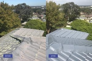 roof restoration before and after