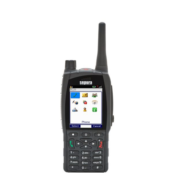 Sepura SC2124 Portable 403-470MHz, Clear, GPS Enabled, Man-Down Capable, Bluetooth/WiFi Capable, Class 3 RF Capable (Needs additional licences to activate capabilities). Order Antenna & Batteries separately.