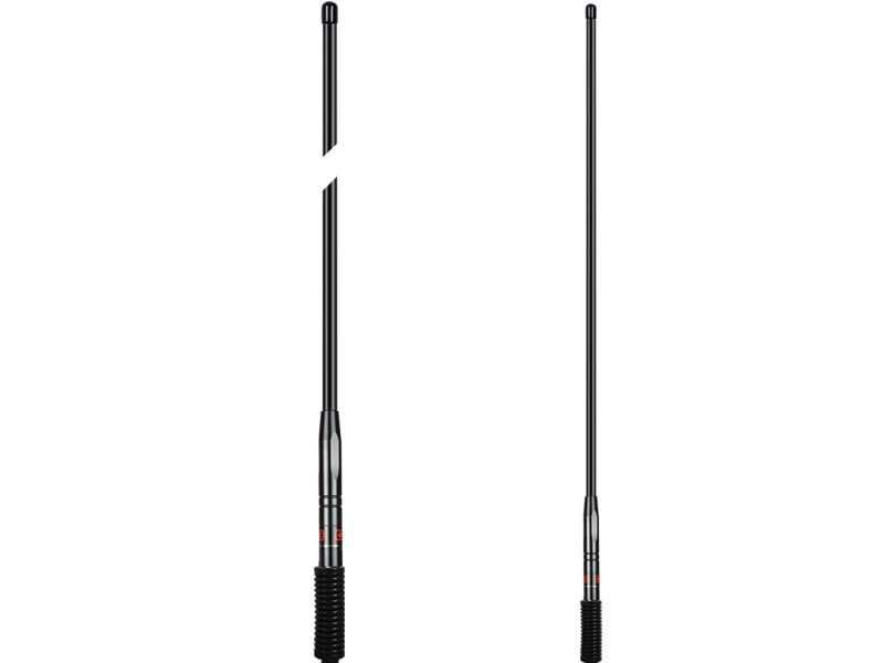 GME Antenna AE4703B UHF 477MHz 1.1 Metre Colinear Aerial With Medium Spring (6.6dBi Gain) Black