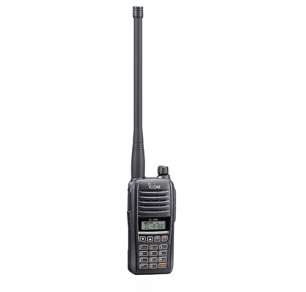 Icom IC-A16E Portable Pilot 200 Channels 6.0w PEP No VOR Package Includes Ant, Battery, Charger & Hand Strap