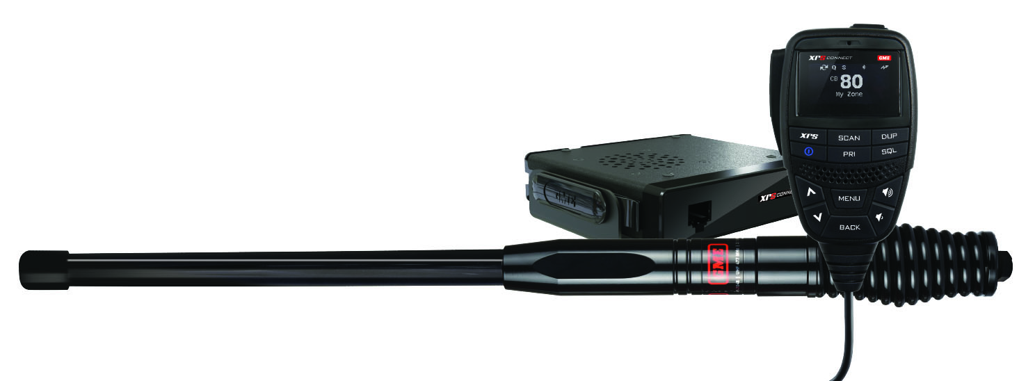 GME XRS-370C XRS Connect Compact Hideaway UHF CB Radio with AE4704B Antenna