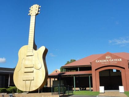 Golden guitar at the Australian Country Music Hall of Fame in Tamworth