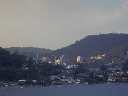 Overlooking the bay at dusk in Gosford