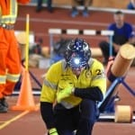 A team member from Moranbah North Mine taking part in the International Mines Rescue Competition