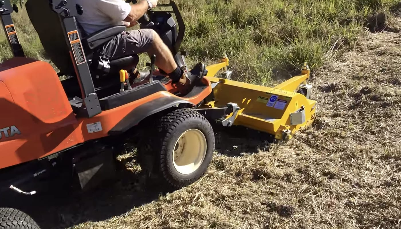out front mulcher